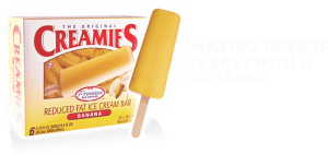 Delicious banana ice cream flavor-Creamies