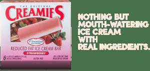 Ice cream strawberry flavor-Creamies