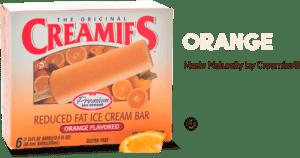 ice cream flavor orange-Creamies