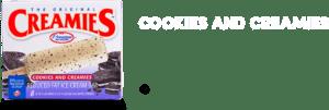ice cream flavor, Creamies cookies and cream