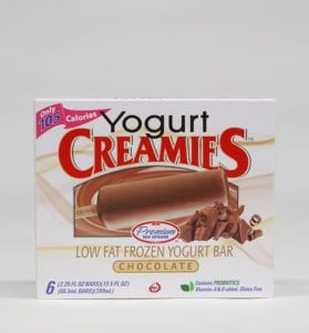 delicious healthy ice cream bars, Creamies frozen yogurt