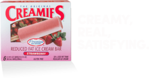 Frozen yogurt and strawberry ice cream flavor - Creamies