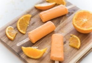 orange flavor ice cream bar - Creamies Ice Cream brand