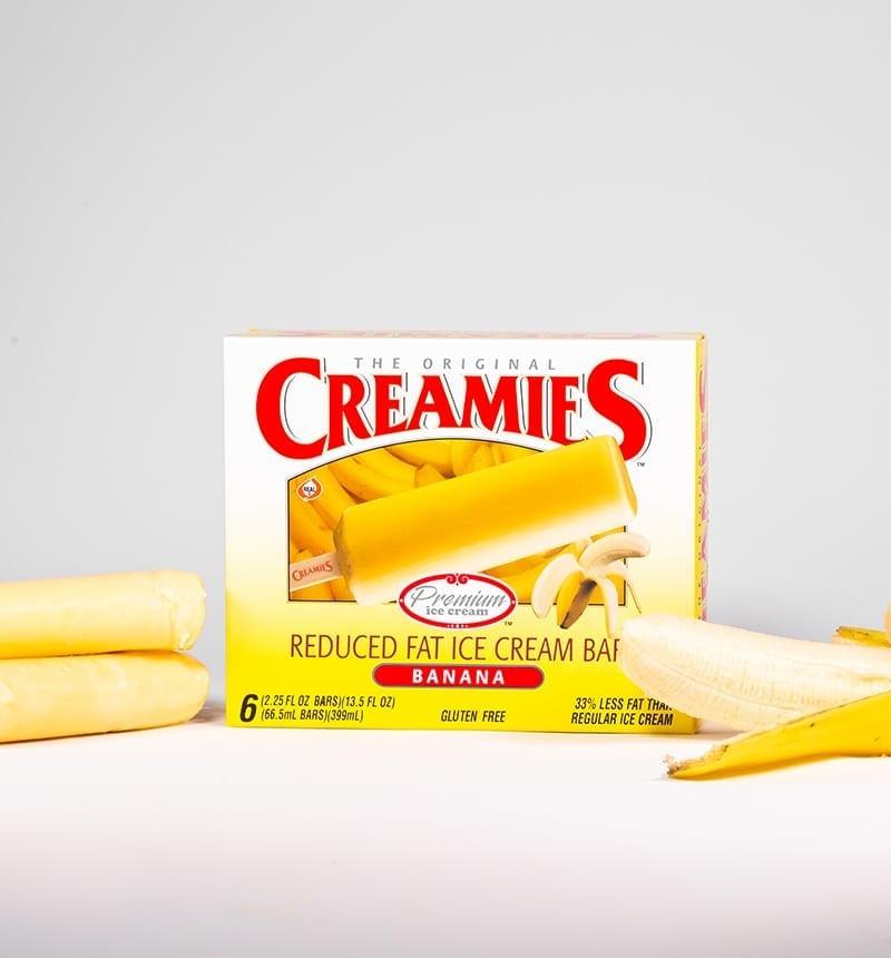 ice cream bar flavor banana-Creamies Ice Cream