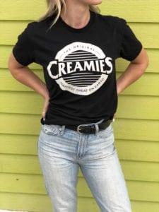 black Creamies logo Unisex t-shirt
