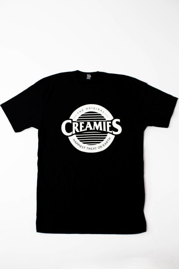 black Creamies logo Unisex t-shirt