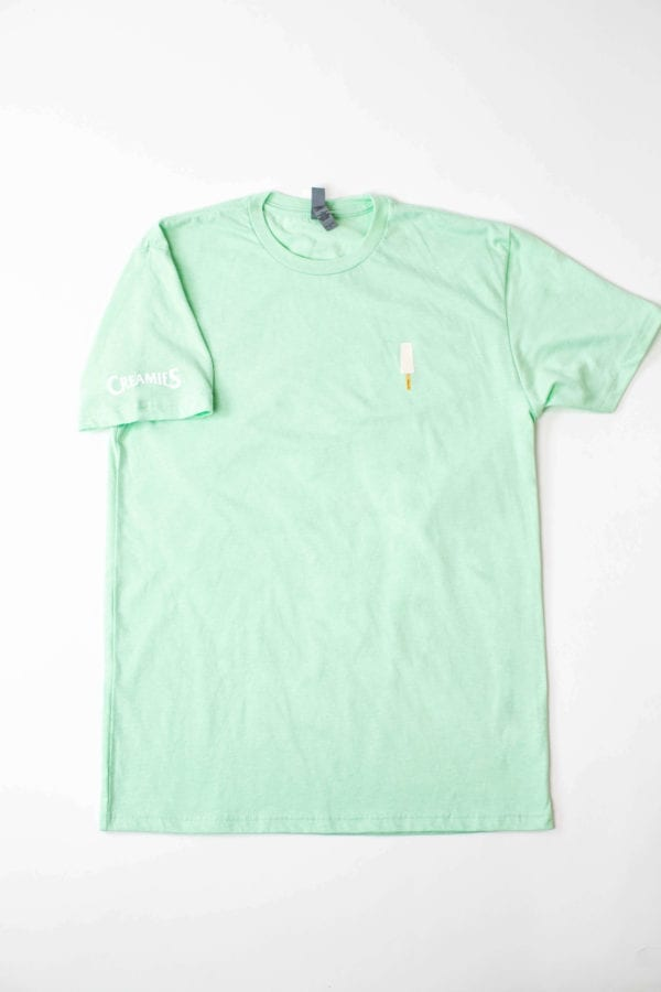 banana Creamies mint green t-shirt