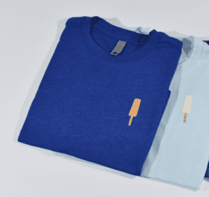Royal blue orange ice cream bar t-shirt