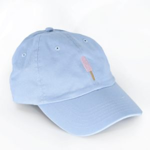 Creamies baby blue strawberry ice cream bar dad hat
