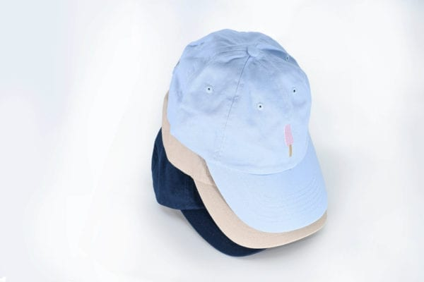 Creamies baby blue strawberry ice cream bar dad hat