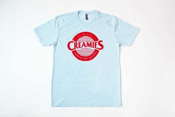 Ice Blue Creamies logo Unisex t-shirt